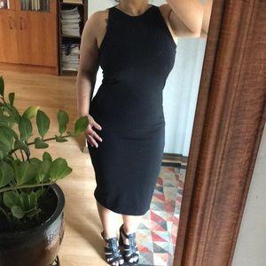 🚨 5/$25...✨NWOT✨ Black fitted midi dress